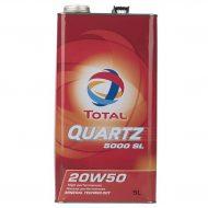 روغن موتور توتال مدل Quartz 5000 SL حجم 5 لیتری