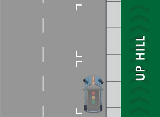 نکات پارک کردن در سربالایی